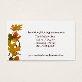 Fall Wedding enclosure cards