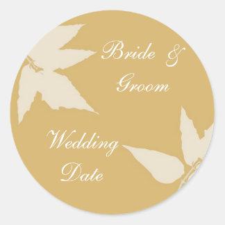 Fall Wedding Envelope Seal/Sticker Classic Round Sticker