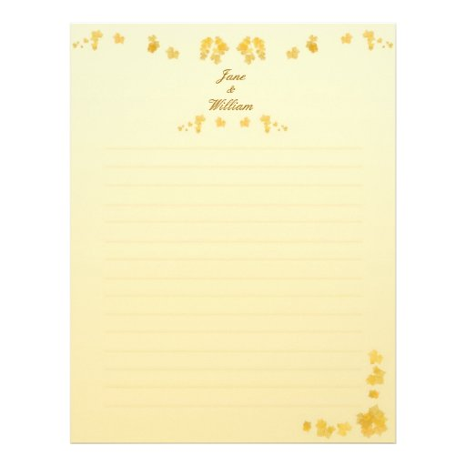 Fall Wedding Guestbook Letterhead Stationery
