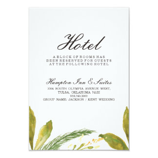 Fall wedding Hotel Card - Rustic Harvest Greenery