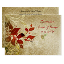 fall wedding Invitation cards