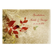 autumn leaves fall wedding invites by mgdezigns