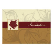 red maple leaf fall wedding invites by mgdezigns