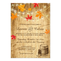 Fall wedding invitation for a country wedding