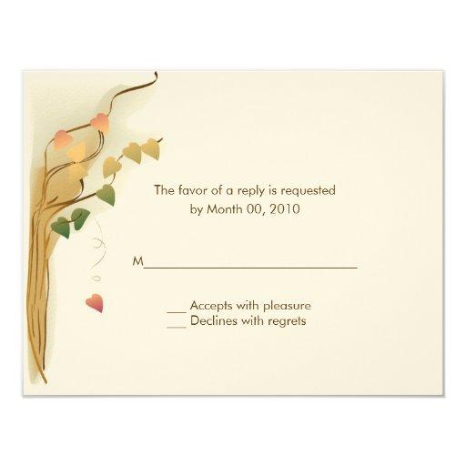 fall wedding invitation reply cards zazzle