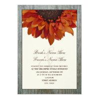 Fall Wedding Invitation - Sunflower &amp; Barnwood (<em>$2.06</em>)