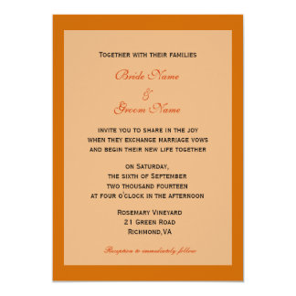 Fall wedding invitations from bride and groom personalized announcements