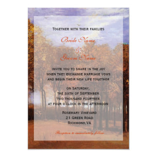 Fall wedding invitations from bride and groom custom announcement