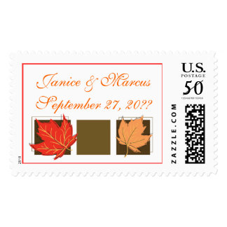 Fall Wedding Invitations Personalized Names Dates Postage
