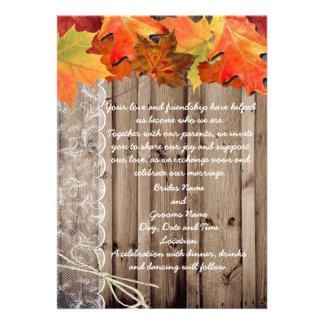 Fall Wedding Invite
