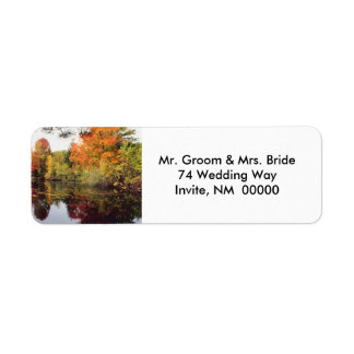 Fall Wedding Invite Return Address Stickers