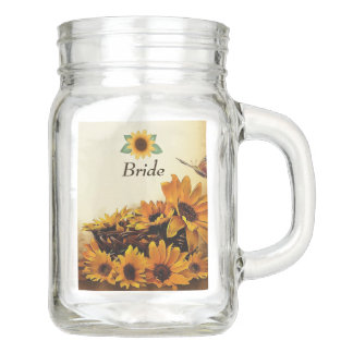 Fall Wedding Mason Jar with Names