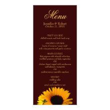 Fall wedding menu custom invites