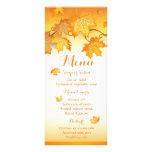Fall Wedding Menu Orange Autumn Leaves