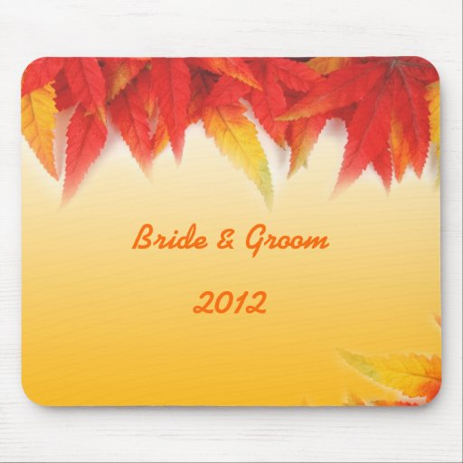 Fall wedding mouse pad