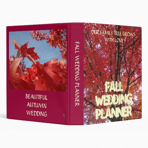 FALL WEDDING PLANNER Book Autumn Binder Brides