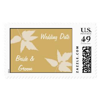 Fall Wedding Postage Stamp