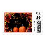 Fall Wedding Postage Stamp | Autumn Wedding Stamps
