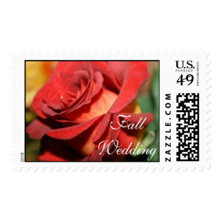 FALL WEDDING POSTAGE STAMPS