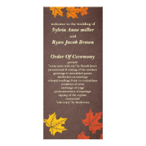 fall Wedding program