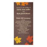 fall Wedding program Rack Card Design