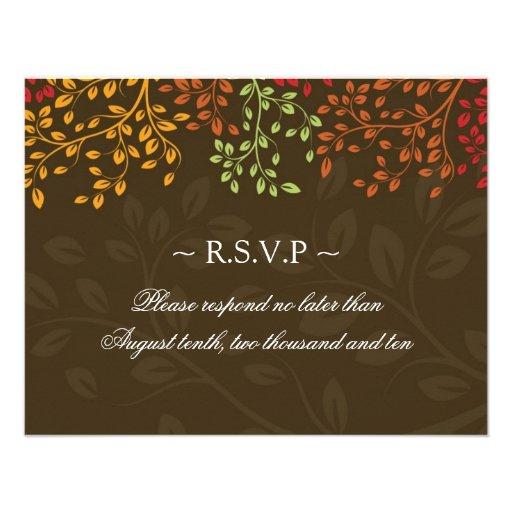 Fall Wedding Reply Cards Custom Invitation