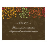 Fall Wedding Reply Cards Personalized Invitation