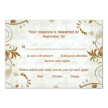 Fall Wedding Response and Meal Choice Card Custom Invitations
