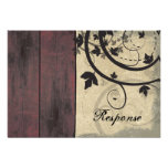 Fall Wedding Response RSVP Card Barn Board Personalized Invitations