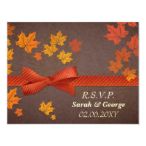 fall wedding rsvp cards