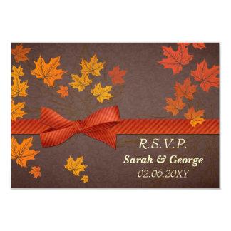 fall wedding rsvp cards standard 3.5 x 5