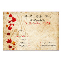 fall wedding rsvp cards standard 3.5 x 5