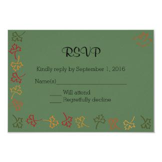 Fall Wedding RSVP in Green Card