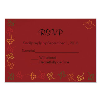 Fall Wedding RSVP in Red Card