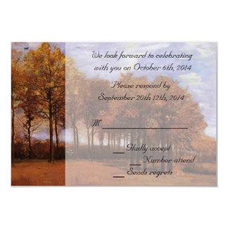 Fall wedding RSVP invitations.  Autumn Landscape Personalized Invite