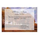 Fall wedding RSVP invitations.  Autumn Landscape Personalized Invitations