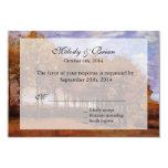 Fall wedding RSVP invitations.  Autumn Landscape 3.5x5 Paper Invitation Card
