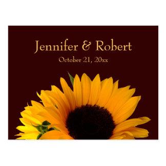 Fall Wedding RSVP Postcard