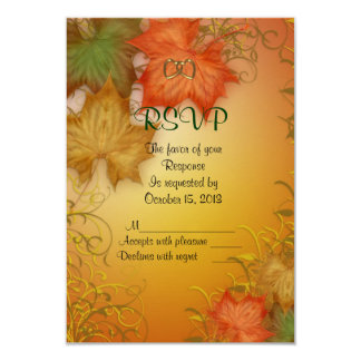 Fall Wedding RSVP response card Invites