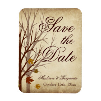 Fall Wedding Save the Date Flexible Magnet