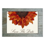 Fall Wedding Save The Date - Sunflower & Barnwood Invites