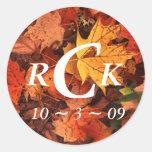 Fall Wedding Stickers