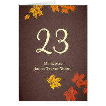 fall wedding table seating card