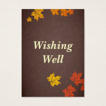 fall wedding wishing well cards