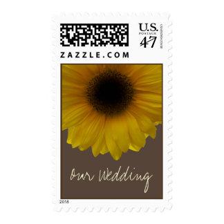 Fall Wedding Yellow Sunflower Stamp