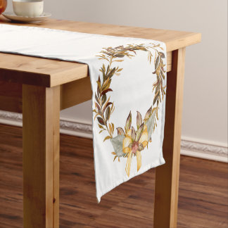 Fall Wheat Earth Tones Rustic Table Runner