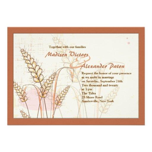 Fall Wheat Invitation