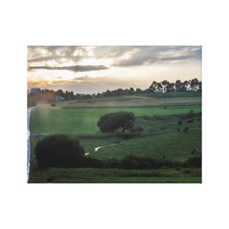 Fall wilderness scene canvas print
