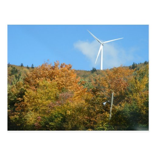 Fall Windmill at Mars Hill Mountain Maine Post Card