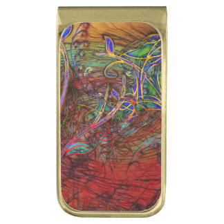 Fall Winds Are Coming Gold Finish Money Clip